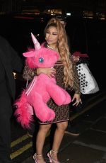 NICKI MINAJ Leaves Opium Restaurant & Club in London 03/11/2019