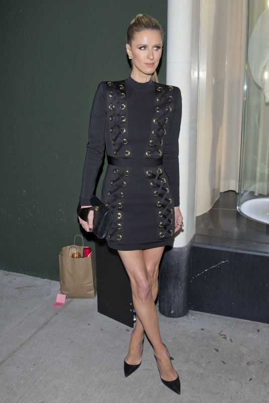 NICKY HILTON Leaves Balmain Store in West Hollywood 03/14/2019
