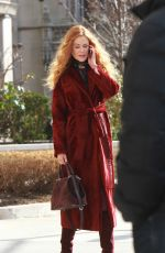 NICOLE KIDMAN on the Set of The Undoing in New York 03/14/2019