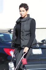 NICOLE MURPHY Out with Her Dog in Beverly Hills 03/07/2019