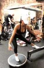 NICOLE SCHERZINGER Workout at a Gym, March 2019 - Instagram Pictures and Video