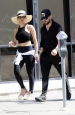 NIKKI BELLA and Artem Chigvintsev Out for Lunch in Los Angeles 03/16/2019