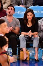 NINA DOBREV at Cleveland Cavaliers vs New York Knicks Game in New York 02/28/2019