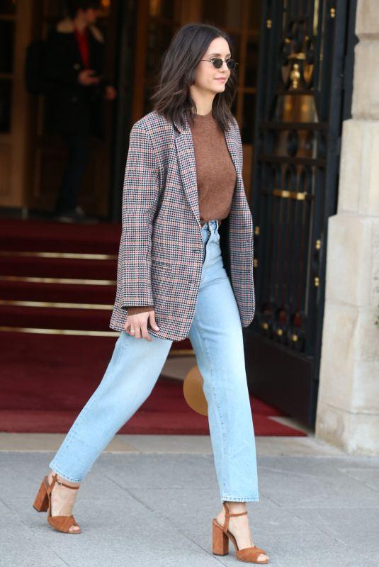 NINA DOBREV Leaves Her Hotel in Paris 03/02/2019