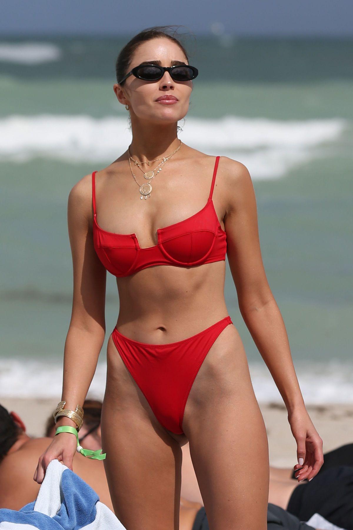 fd154d37170 OLIVIA CULPO in a Red Bikini at a Beach in Miami 03/28/2019 – HawtCelebs
