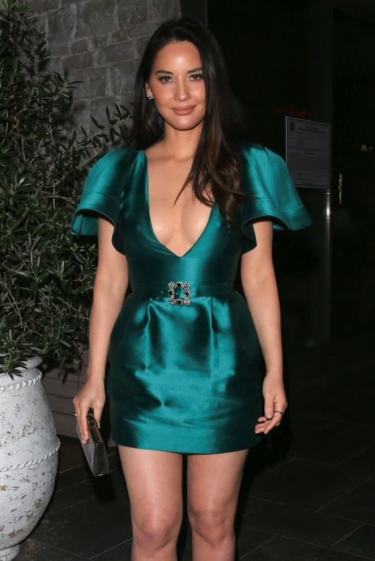 OLIVIA MUNN Leaves Hollywood Reporter Dinner in Beverly Hills 03/12/2019