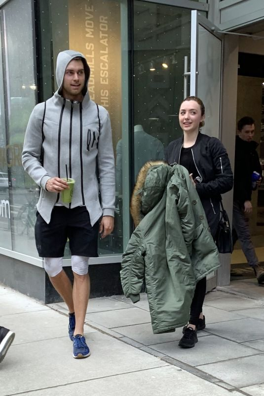 PEYTON ROI LIST and Pierson Fode Leaves a Gym in Toronto 03/17/2019