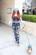 PHOEBE PRICE Out with Her Dog in Beverly Hills 03/01/2019