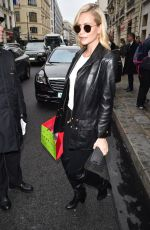 POPPY DELEVINGNE Leaves Bristol Hotel in Paris 03/05/2019