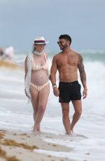 Pregnant CHLOE MELAS in Bikini at a Beach in Miami 03/08/2019