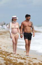 Pregnant CHLOE MELAS in Bikini at a Beach in Miami 03/08/2019