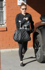 Pregnant KATE MARA Arrives at Ballet Bodies in West Hollywood 02/28/2019