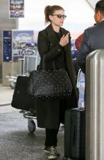 Pregnant KATE MARA at LAX Airport in Los Angeles 03/06/2019