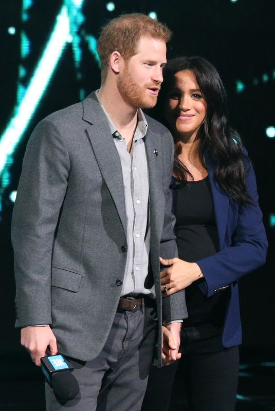 Pregnant MEGHAN MARKLE and Prince Harry at We Day UK in London 03/06/2019