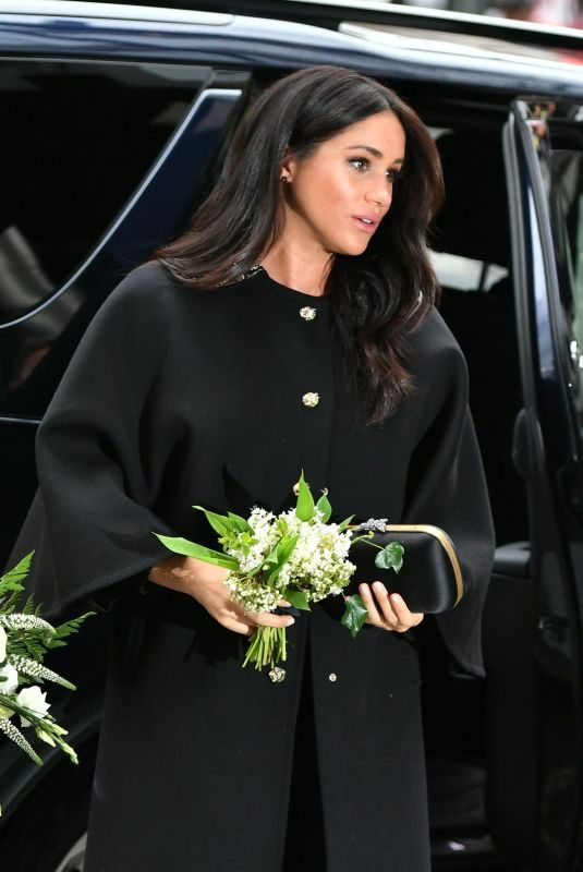 Pregnant MEGHAN MARKLE Arrives at New Zealand House in London to Sign a Book of Condolence 03/19/2019