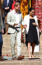 Pregnant MEGHAN MARKLE at Andalusian Gardens in Rabat 02/25/2019