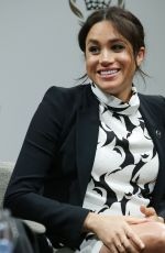 Pregnant MEGHAN MARKLE at International Women