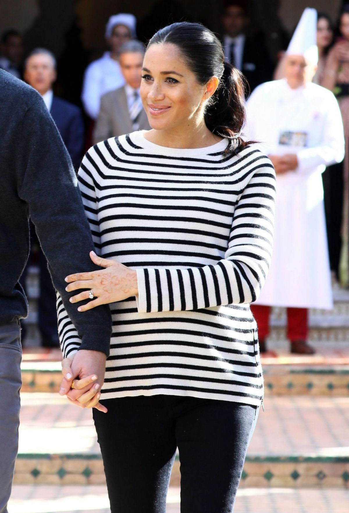 Pregnant Meghan Markle At Moroccan Royal Federation Of
