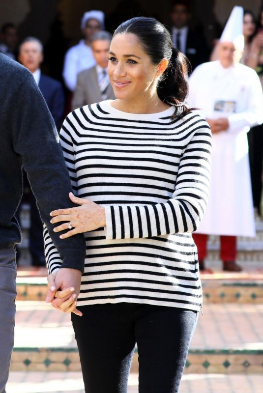 Pregnant MEGHAN MARKLE at Moroccan Royal Federation of Equestrian Sports in Rabat 02/25/2019
