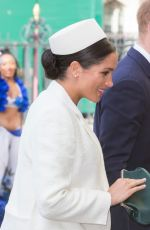 Pregnant MEGHAN MARKLE at Westminster Abbey for Commonwealth Service 2019 in London 03/11/2019