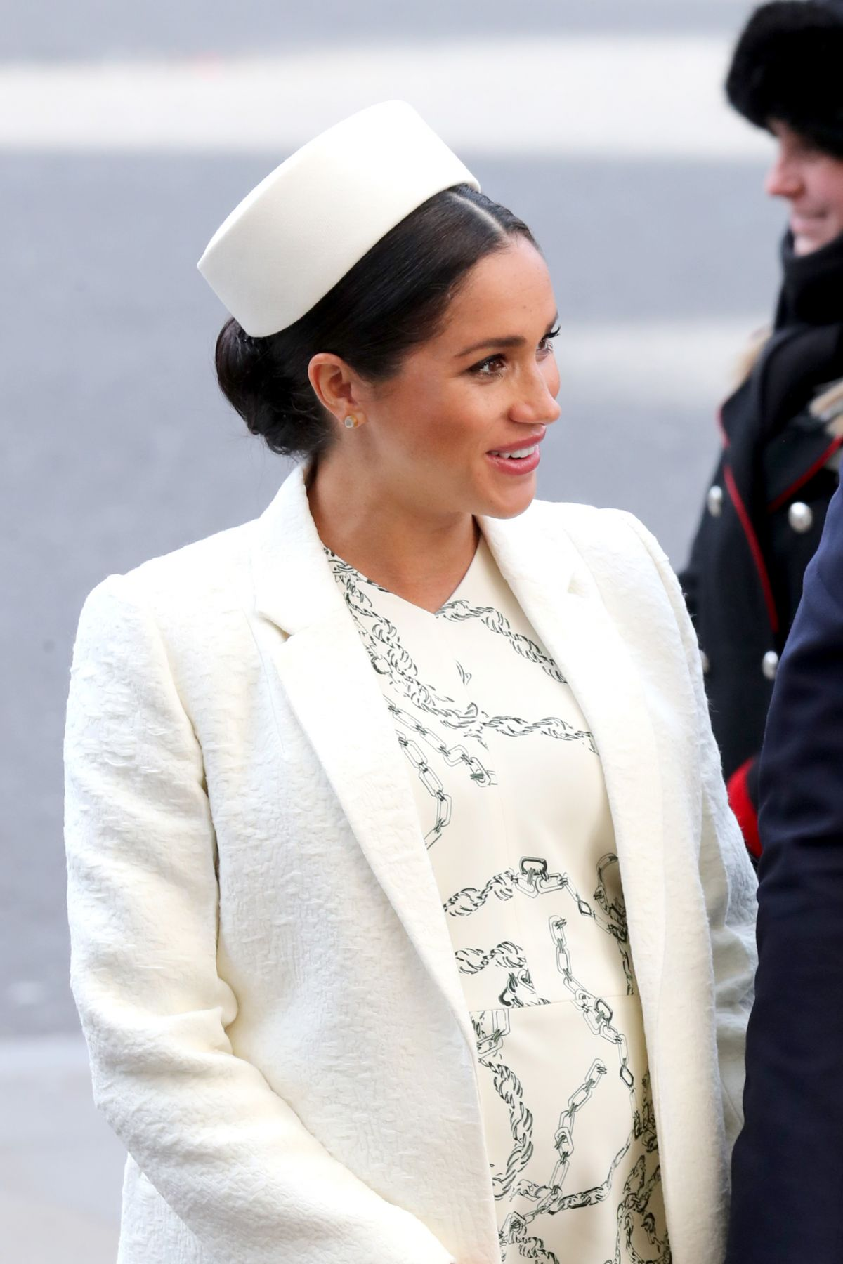 Pregnant MEGHAN MARKLE At Westminster Abbey For