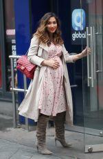 Pregnant MYLEENE KLASS Arrives at Global Radio in London 03/22/2019