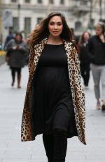 Pregnant MYLEENE KLASS Arrives at Global Studios in London 03/01/2019