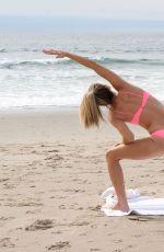 RACHEL MCCORD Doing Yoga at Venice Beach 02/27/2019