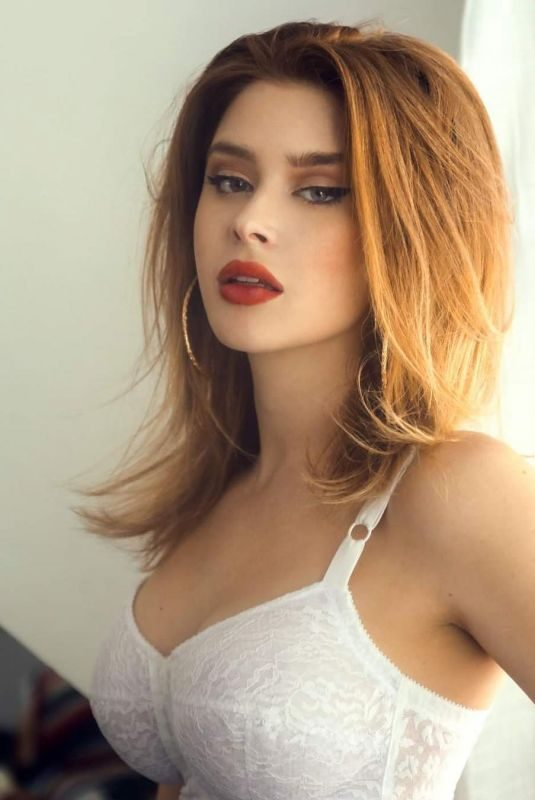 RENEE OLSTEAD on the Set of a Photoshoot, March 2019