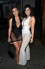 RHIANNE SAXBY and SARAH LONGBOTTOM Night Out in Manchester 03/02/2019