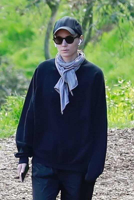 ROONEY MARA Out at Tree People Park in Beverly Hills 03/03/2019