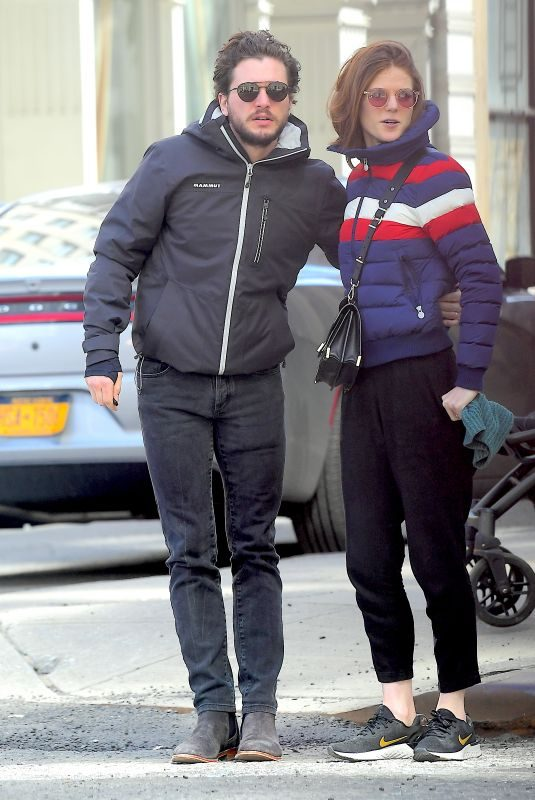 ROSE LESLIE and Kit Harington Out in New York 03/27/2019