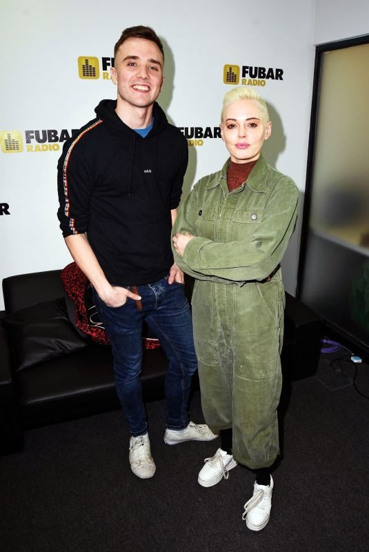 ROSE MCGOWAN at Fubar Radio in London 03/06/2019