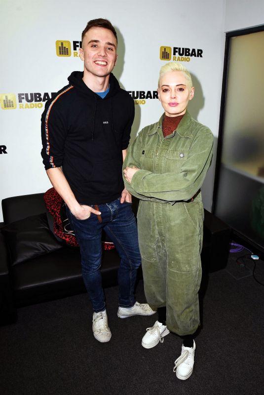 ROSE MCGOWAN at Fubar Radio in London 03/06/2019
