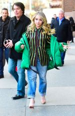 SABRINA CARPENTER Out and About in New York 03/12/2019