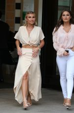 SAM and BILLIE FAIERS Leaves ITV Studios in London 03/27/2019