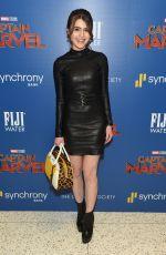 SAMI GAYLE at Captain Marvel Screening in New York 03/06/2019