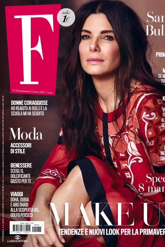 SANDRA BULLOCK in F Magazine, March 2019