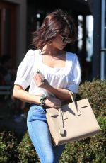 SARAH HYLAND in Jeans Leaves Nine Zero One Salon in West Hollywood 03/16/2019