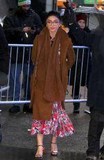 SARAH HYLAND Leaves Good Morning America in New York 03/01/2019