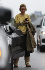 SARAH PAULSON at a Gas Station in Los Angeles 03/02/2019