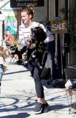 SHANTEL VANSANTEN and Her Dog at Alfred in Los Angeles 03/14/2019