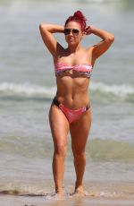 SHARNA BURGESS in Bikini at Bondi Beach in Sydney 03/01/2019