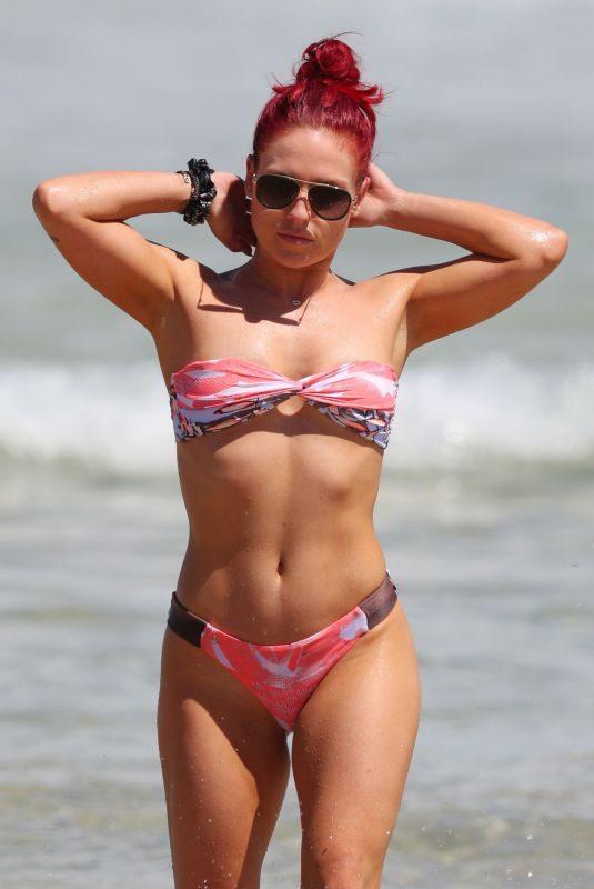 SHARNA BURGESS in Bikini at Bondi Beach in Sydney 03/01/2019