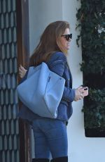 SILA FISHER in Denim and Knee High Boots Out for Lunch in West Hollywood 03/20/2019