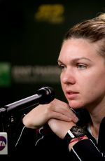 SIMONA HALEP at Indian Wells Masters Press Conference 03/09/2019