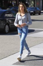 SISTINE ROSE STALLONE in Ripped Denim Out in Beverly Hills 03/07/2019