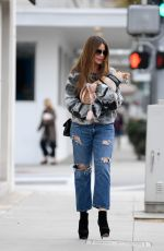 SOFIA VERGARA Out with Her Dog in Beverly Hills 03/03/2019