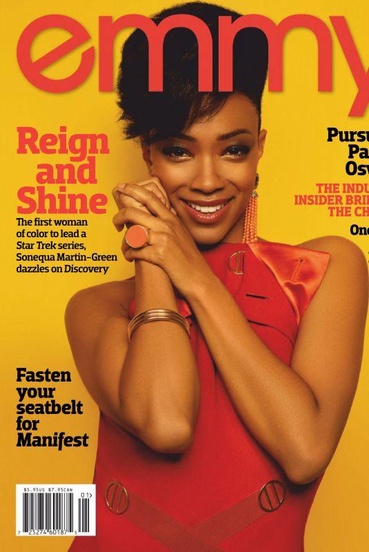SONEQUA MARTIN GREEN in Emmy Magazine, February 2019