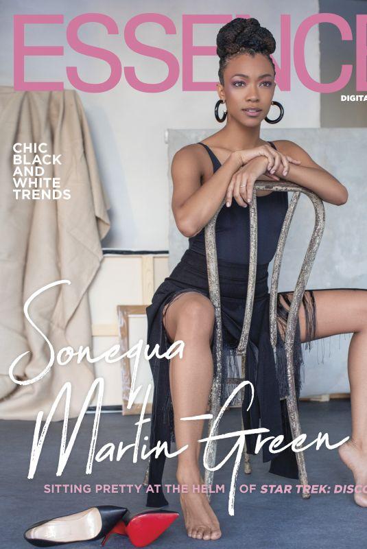 SONEQUA MARTIN GREEN in Essence Magazine, 2019